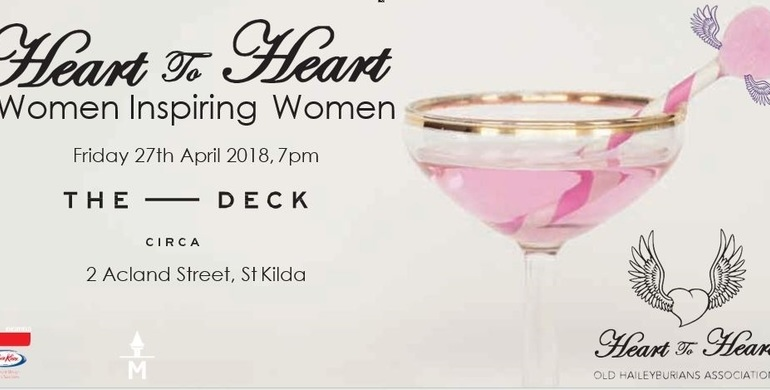 Heart to Heart 2018 - Women Inspiring Women (Tickets available mid-March)