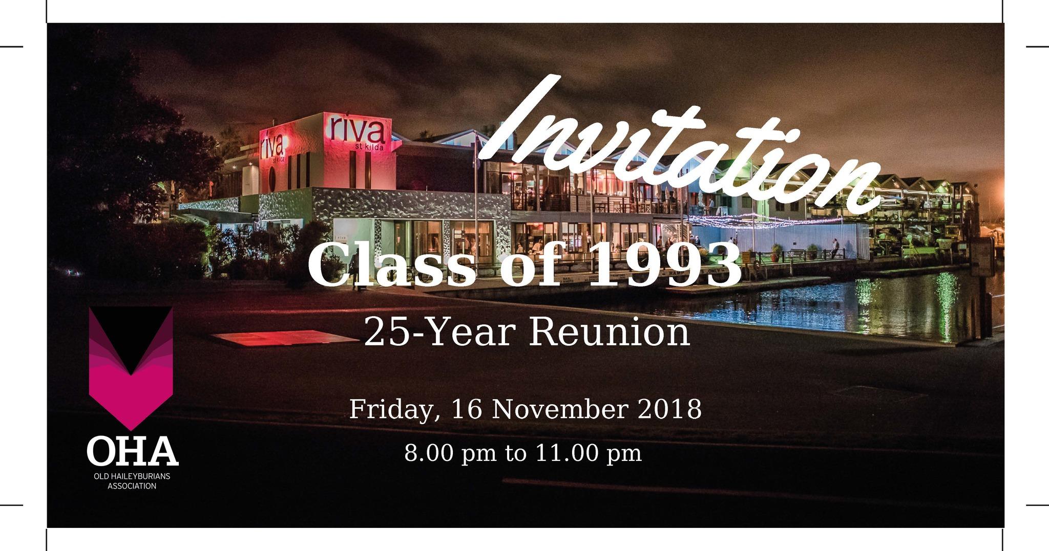 Class of 1993 - 25 Year Reunion