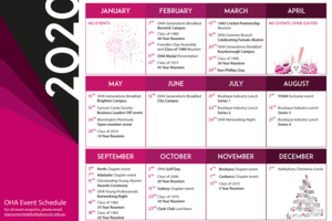 2020 Event Schedule Announced