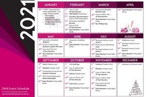 Event Schedule 2021