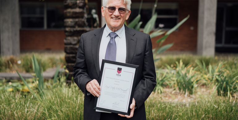 Prof Peter McDougall (OH '67) named 2020 OHA Medallist