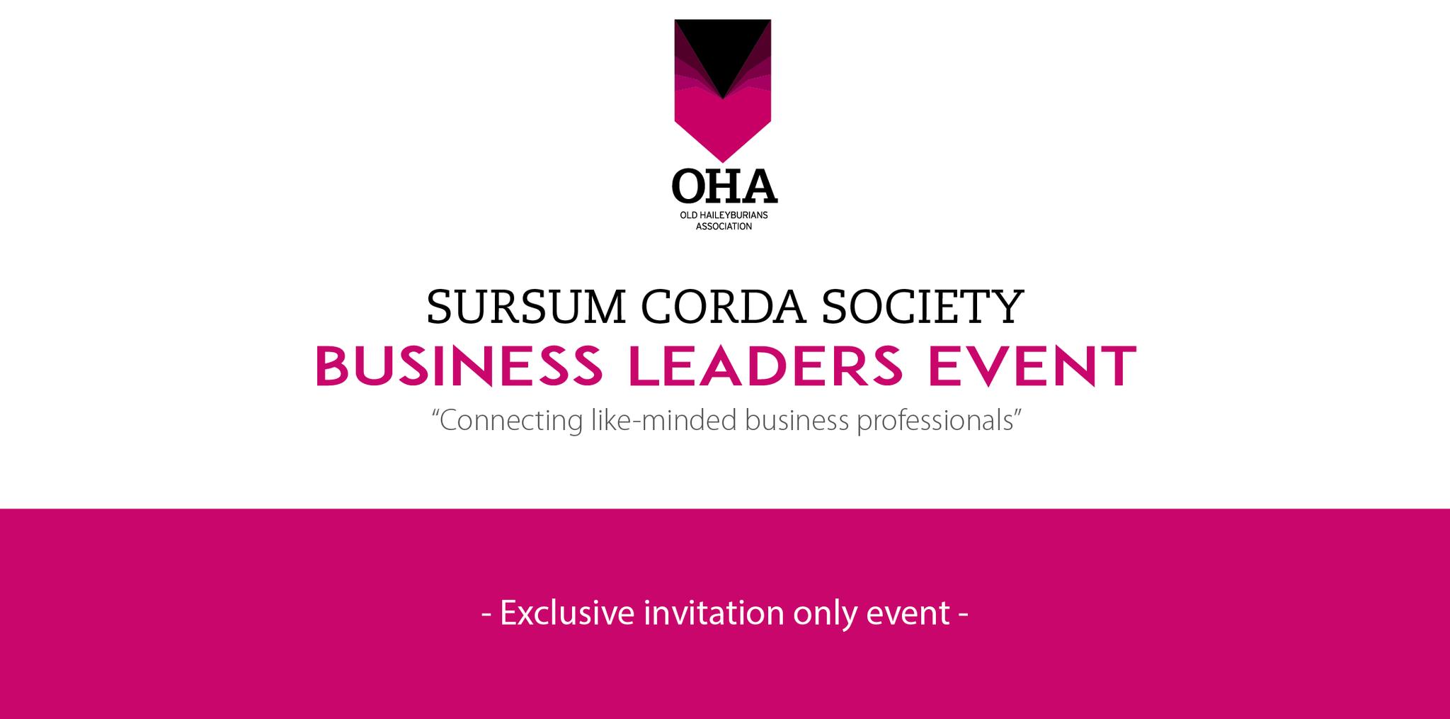 Sursum Corda Society - Business Leaders Event